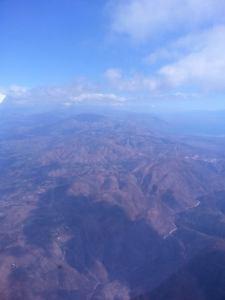 Haiti from 10,000 ft.