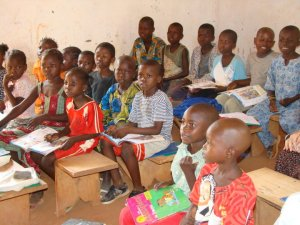 Some of the orphans at one of our sponsored orphan schools.