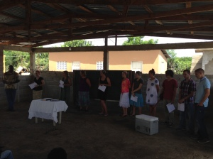 Sunday am at the orphanage. Saying hello And getting ready to sing for the kids