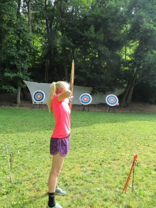 Jenna at the archery range!