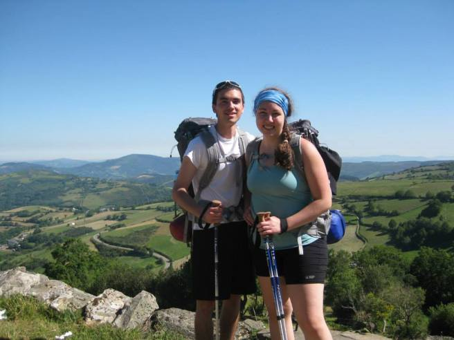 "Rachel & her brother Zach ""on mission"" on the St. James Way in Spain this summer."