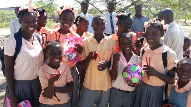 Children from the Bode-de-Mer Christian School, January, 2014